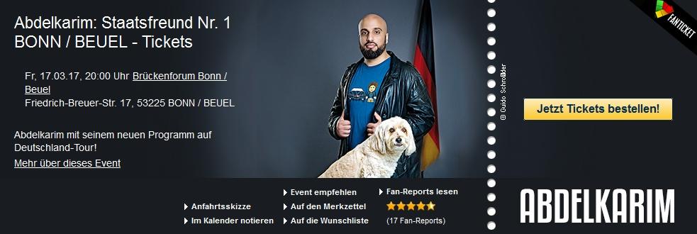 Abdelkarim: Staatsfreund Nr. 1 BONN / BEUEL - Tickets