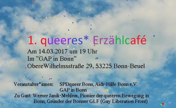 1. queeres* Erzählcafé in Bonn