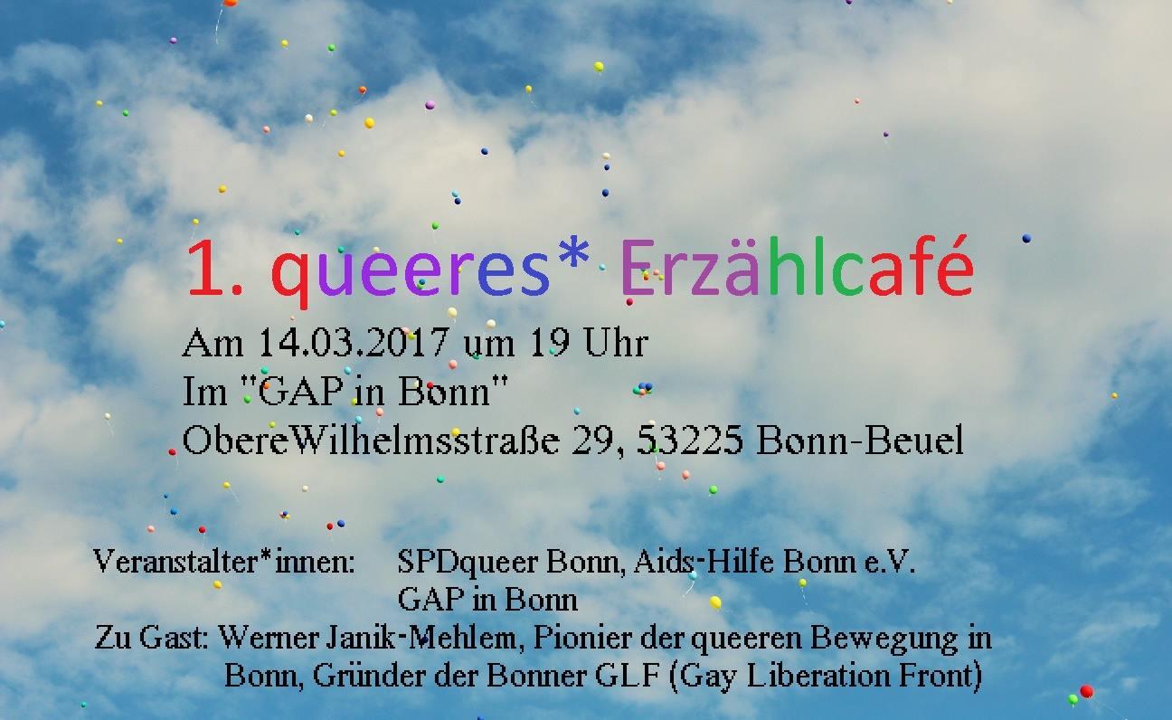 1. queeres Erzählcafé in Bonn