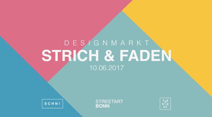 Strich & Faden Designmarkt am 10.Juni in der Fabrik45 Bonn