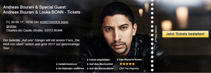 Andreas Bourani & Louka Kunst!Rasen Bonn - Tickets