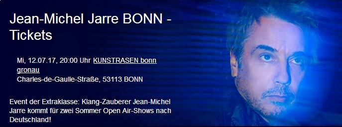 Jean-Michel Jarre auf dem Bonner Kunst!Rasen