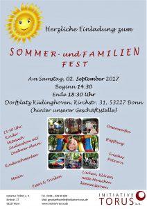 Sommer- und Familienfest Initiative TORUS e. V. am 2. September 2017 in Küdinghoven