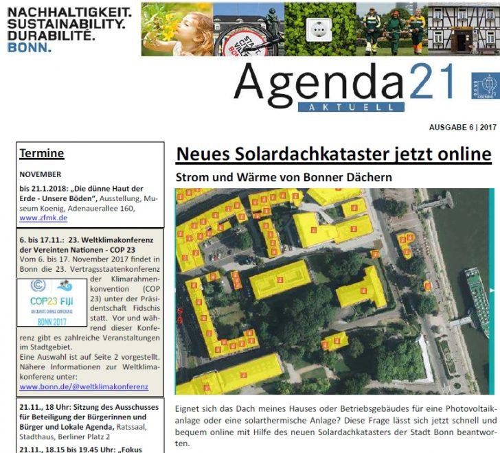 Stadt Bonn - Agenda 21 Aktuell Ausgabe November / Dezember 2017