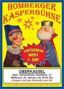 Puppentheater am 24. Januar 2018 in Bonn-Oberkassel