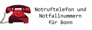 Notruftelefon und Notfallnummern für Bonn